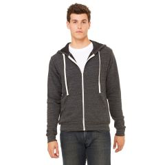 Bella+Canvas 3909 Tri-Blend Sponge Fleece Zip Hoodie