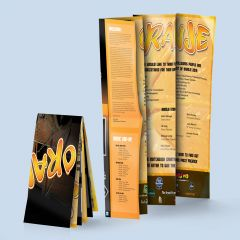 Map Fold Brochure Festival Guide